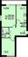 Дома серии и-522а размер лоджии.